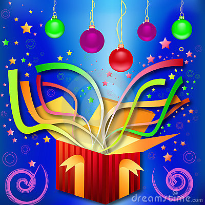 Magic gift-surprise by Christmas, New Year