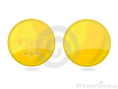 Magic gold tag emblems set