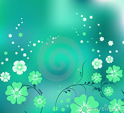 Magic green flowers