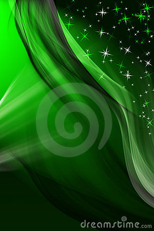 Magic green winter background