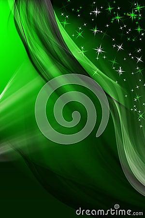 Magic green winter background