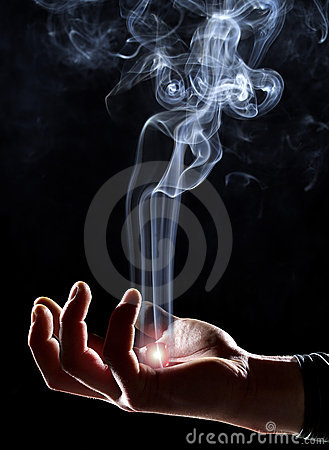 Free Magic Hand With Ascending Smoke Royalty Free Stock Photography - 4959307