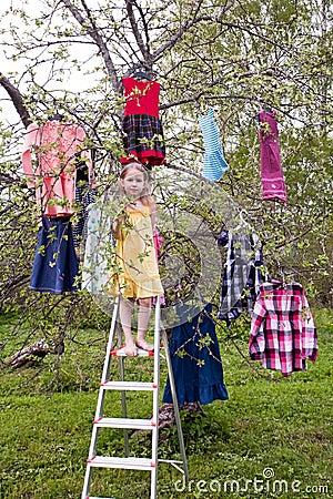 Magic harvest of dresses