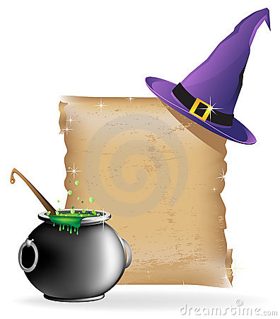 Magic hat and cauldron