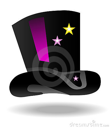 Magic hat icon with stars