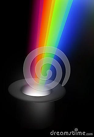 Magic hat with rainbow