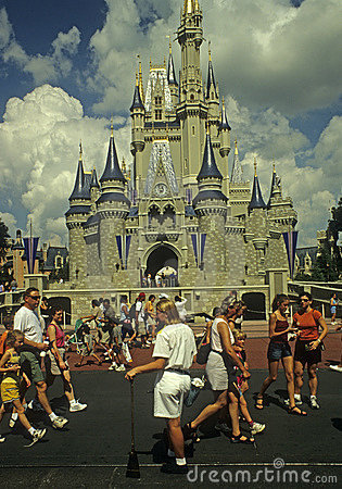 Magic Kingdom Cast Member (cleanup crew) Editorial Photography