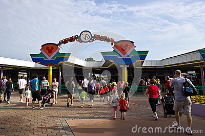 Magic Kingdom Entrance Editorial Stock Photo