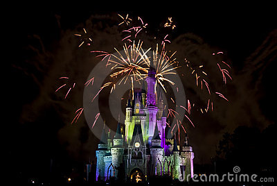 Magic Kingdom firework 2 Editorial Image