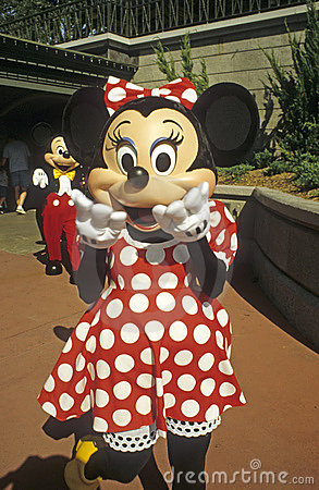 Magic Kingdom - Minnie Mouse with Mickey Mouse Editorial Stock Photo
