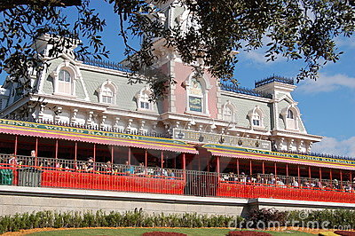 Magic Kingdom station entrance Editorial Stock Image