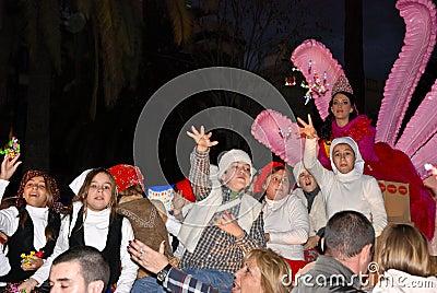 Magic Kings - Los Reyes Magos Parade in Malaga Editorial Photo
