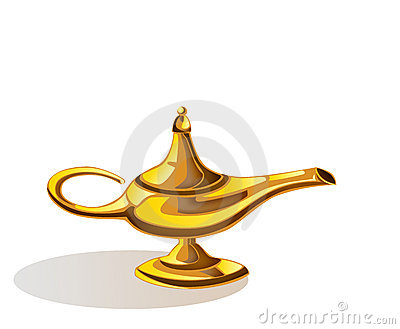 Magic lamp of Aladdin