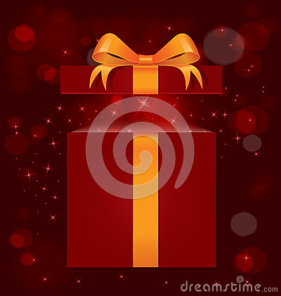 Magic light gift box vector