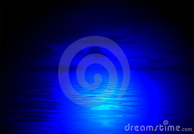 Magic night diversity, blue light,