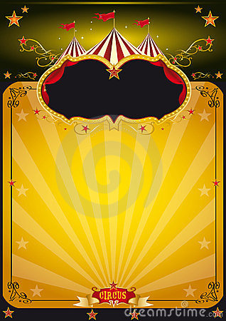 Magic orange circus poster.