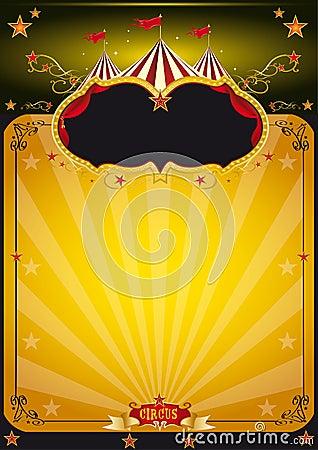 Magic orange circus poster.
