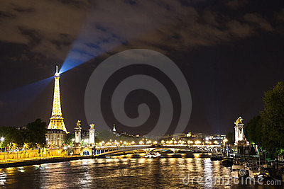 The magic of Paris at night Editorial Image