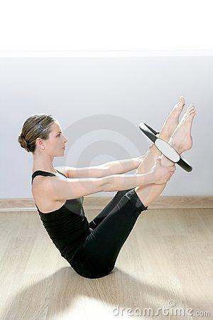 Free Magic Pilates Ring Woman Aerobics Sport Gym Stock Image - 18933601