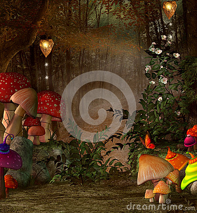 Free Magic Place Into The Forest Royalty Free Stock Image - 43078246