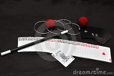 Magic set with trick cards