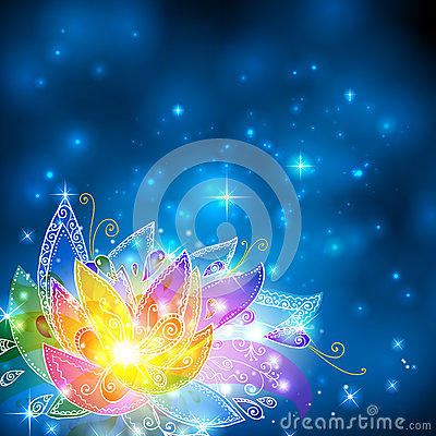 Free Magic Shining Rainbow Colors Esoteric Flower Stock Image - 27778321
