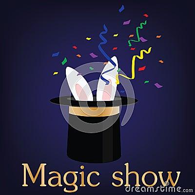 magic show stock illustration image 58531250 Magic Hat Cartoon Magic Hat Background