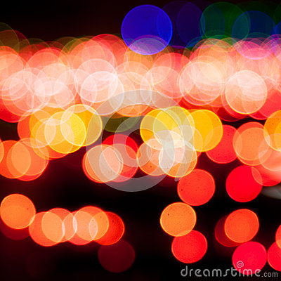 Magic sparkle, light dots and bokeh effect