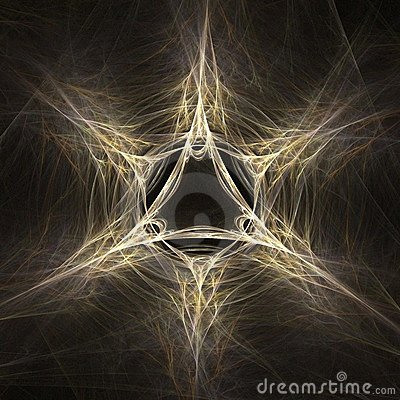 Magic star abstract fractal