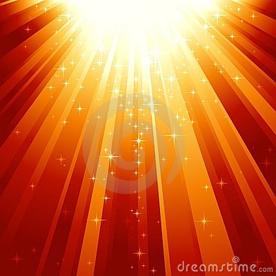 Free Magic Stars Descending On Beams Of Light Royalty Free Stock Image - 10545916