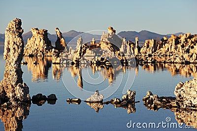 Magic sunset on Mono lake