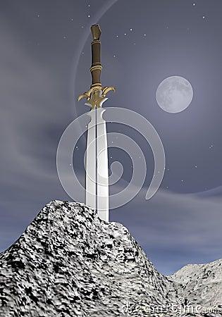 Magic sword - 3D render