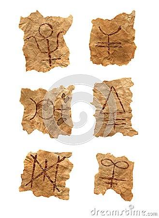 Magic symbols isolated
