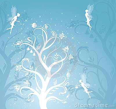 Magic tree with fairies.