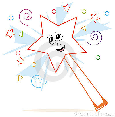 Magic Wand Cartoon Stock Image