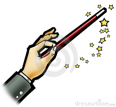 Magic wand - White background