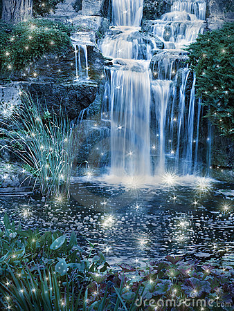 Free Magic Waterfall Stock Image - 16665621