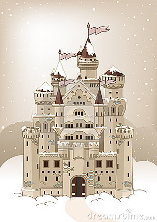 Magic winter Castle invitation card