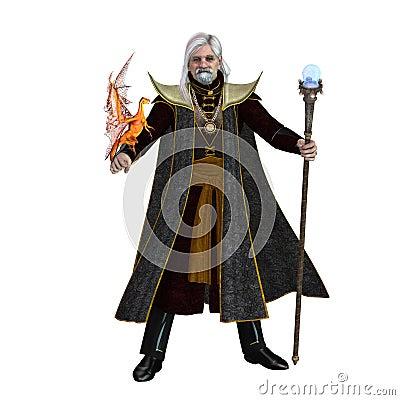 Free Magic Wizard On White Stock Photography - 119599272
