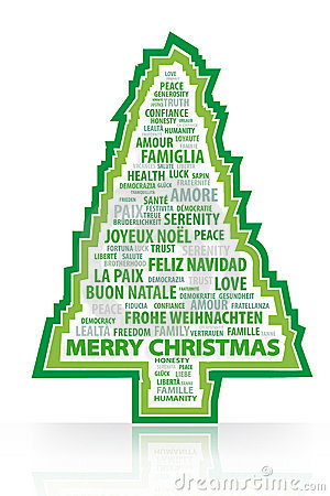 The magic words of the Christmas tree