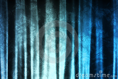 Magical Blue Pattern Abstract Fabric Background