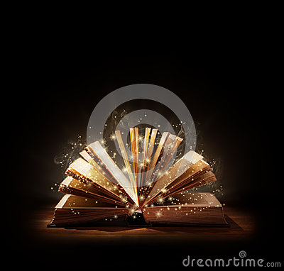 Free Magical Book Or Bible Stock Image - 49247831