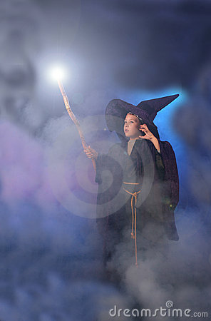 Magical Child in Wizard Costume