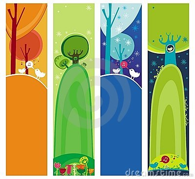 Magical forest banners.
