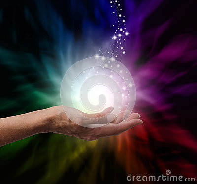 Free Magical Healing Energy Royalty Free Stock Photography - 42250547