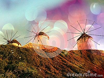 Magical Mykonos Windmills