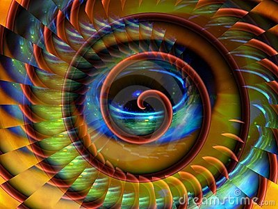 Magical space spiral background