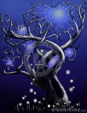 Magical spider tree - blue