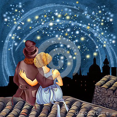Free Magical Starry Night Stock Photos - 89864043
