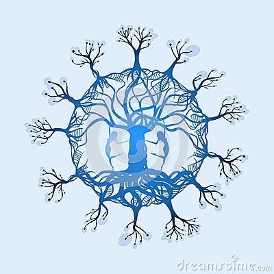 Free Magical Tree Of Life With Two Dancers Stock Photos - 49959873